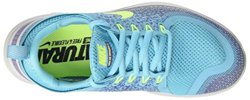 Nike Free Run Distance 2, Chaussures de Running Femme Bleu (Polarized Blue/volt/iron Purple/purple Earth)