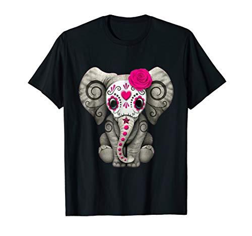 Dead Sugar Skull Elephant Funny Halloween Costume Gift