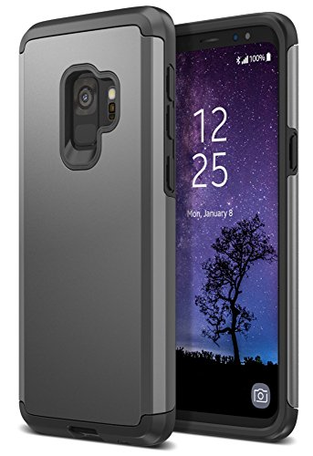 Trianium Protanium Galaxy S9 Case with GXD Impact Gel Cushion and Reinforced Hard Bumper Frame [Premium Protection] Heavy Duty Covers for Samsung Galaxy S 9 (2018) Phone - Gunmetal