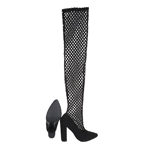 Ital-Design Women's Boots Kitten Heel Summer Boots at Black izOKv7HD6