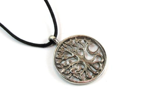 - Celtic Tree of Life, Pewter Pendant on Adjustable Corded Necklace