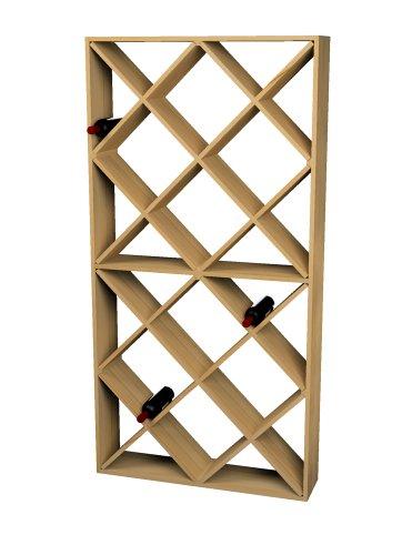 Wine Cellar Innovations Rustic Pine Solid Diamond Bin Wine Rack for 208 Wine Bottles, Light Stained