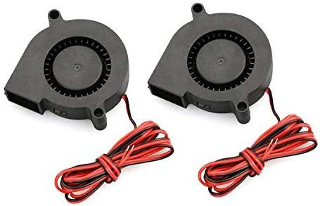 2 PCS Mini Ventilador de refrigeración 5015 DC 12V Turbo Radial ...