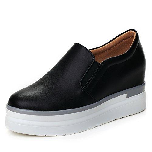 Lok Fu Zapatos Primavera,La Altura Zapatos,Poco Blanco Zapatos De Las Mujeres,Cuero Zapatos Casuales,Suela Gruesa Zapatos Planos B