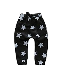 Kids Tales Baby Boys Girls Thick Harem Pants Stars Elastic Trousers Bottoms