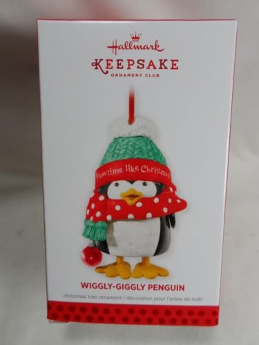 (Hallmark Keepsake Ornament Club Exclusive Wiggly-Giggly Penguin 2013)