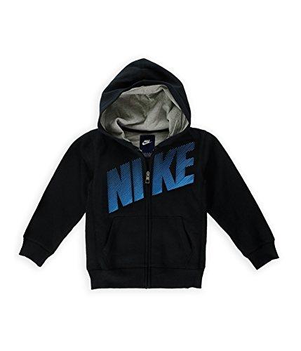 Nike Little Boys' Full-Zip Hoodie (4, Black)