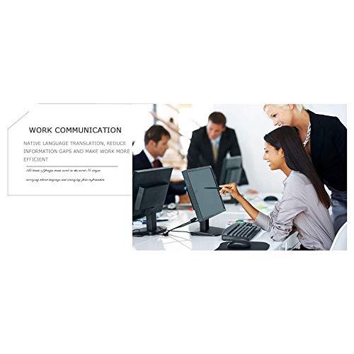 Ecurson 2.4'' Smart Instant Smart Voice Translator Real Time WiFi 43 Languages Speech Translation Machine (Black) by Ecurson (Image #8)