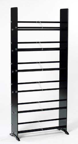 (TransDeco Glass CD DVD Rack for 234 DVD/Blu-Ray/Game 336 CD Storage Rack Black)