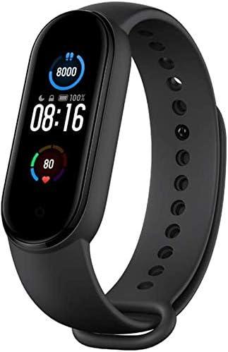 Xiaomi Mi Smart Band 5 (2020) Pantalla a color AMOLED de 1,1 pulgadas, pulsera impermeable IP68 BT 5.0 Fitness, Sleep, frecuencia cardíaca 24/7, deportes, natación, rastreador de salud (modelo global, negro) 3