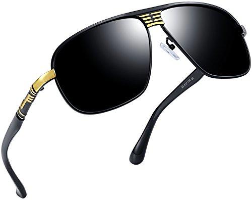 Joopin-Polarized Sunglasses Men Polaroid Driving Sun Glasses Mens Sunglass (Black Gold) (Discount Designer Glasses)