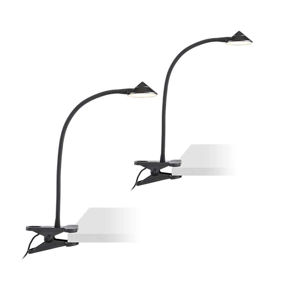 Black LED Clip Lights - AC or USB Powered Set of 2