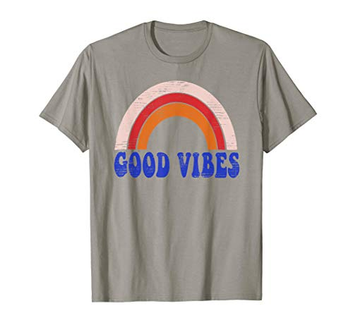 Good Vibes Tee Shirt Women Teen Girls Cute Top T-Shirt (Good Vibrations Shirt)