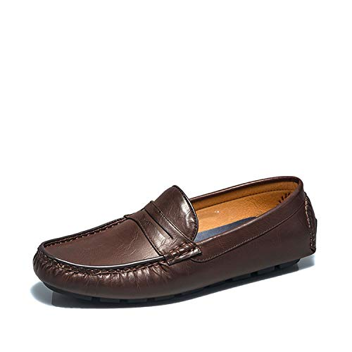 store ramses Casual Loafers,Shoes Men,Spring and Summer New Casual Shoes,Light Flat Shoes Men,Brown,41 ()