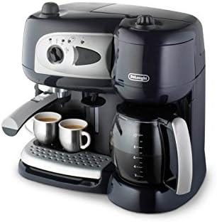 De'Longhi Machine à Café à Pompe et Cafetière Filtre 2-en-1, Machine Expresso BCO260CD.1, Noir