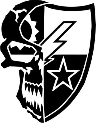Ranger us army star skull vinyl decal stickerblackcars trucks vans suv jeeps