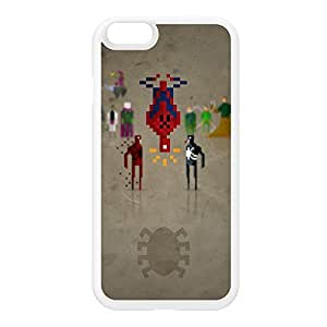 8Bit - Marvel Spiderman White Silicon Rubber Case for iPhone 6 by DevilleArt + FREE Crystal Clear Screen Protector