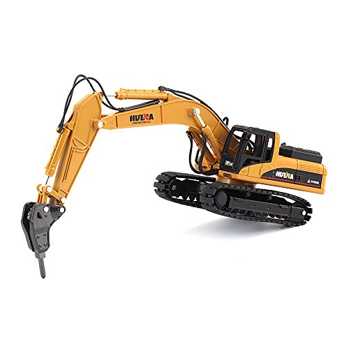 1/50 Scale Diecast Drill Excavator Engineering Vehicle Construction Models Toys for Boys (Impact Hammer Toy Truck)