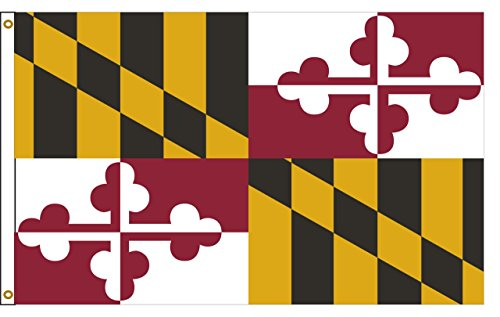 Cheap Maryland 5ftx8ft Nylon State Flag 5×8 Made In USA 5'x8′