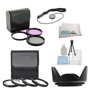 SSE 7PC 52mm Filter Set For the Nikon D3000 D3100 D3200 D3300 D5000 D5100 D5200 D5300 D5500 D90 D7000 D7100 D7200 D600 D610 D800 D800E D810 D810A DSLR Camera + MORE