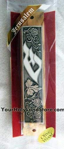 Olive Wood Mezuzah with Scroll by YourHolyLandStore by YourHolyLandStore (Image #2)