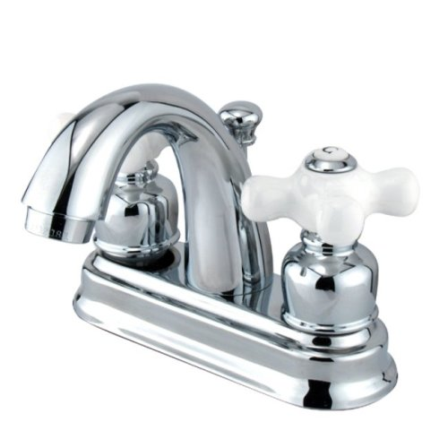 Kingston Brass KB5611PX Restoration 4-Inch Centerset Lavatory Faucet, Polished Chrome