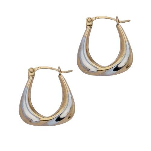 Boucles d'oreilles créoles Femme - E-10069 - Or jaune (9 carats)