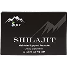 Sayan Pure Altai Shilajit | Genuine Black Resin Mineral Pitch, Organic Fulvic Acid Supplement for Detox, Immune + Energy Support | Natural Aphrodisiac and Libido Boost for Women and Men | 60 Tablets