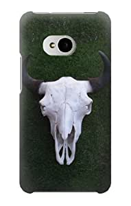 S1248 Bison Skull Case Cover For HTC ONE M7