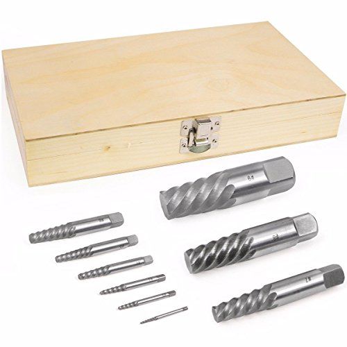 9PC JUMBO SCREW EXTRACTOR SET BOLT STUD PIPE REMOVER EZ EASY OUT 5/64 - 1 ()