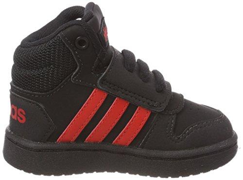 adidas Vs Hoops Mid 2.0, Zapatillas Unisex Bebé Negro (Negbas / Rojbas / Negbas 000)