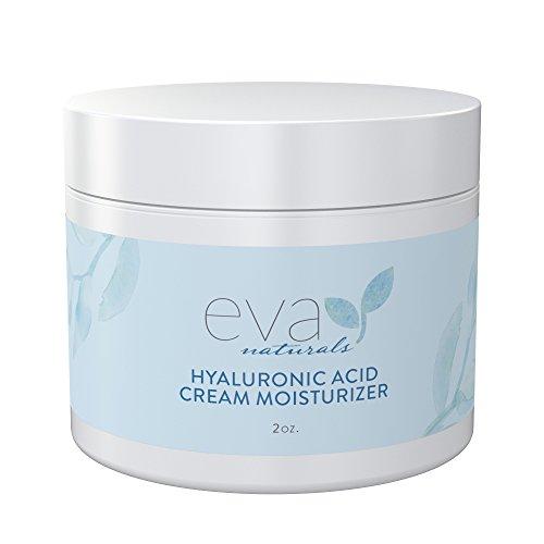 Hyaluronic Acid Moisturizing Cream by Eva Naturals - Best Wrinkle Cream - Facial Moisturizer, Dry Skin Cream, Retinol, Vitamin B, C & E, CoQ10 - Anti-Aging: Reduces Dry Skin, Fine Lines & Wrinkles