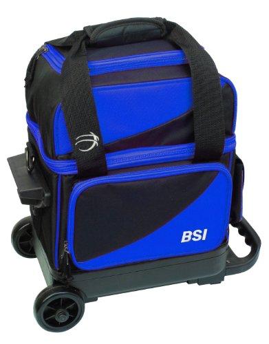 Cheap BSI Single Ball Roller Bowling Bag, Black/Blue