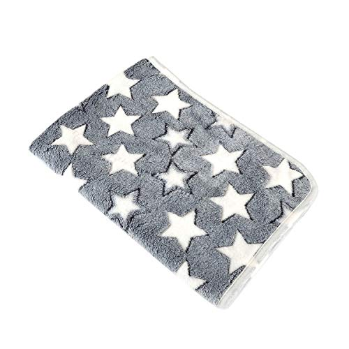 Sex Appealing Transfer Dog Bed Soft Flannel Fleece Star Print Warm Pet Blanket Sleeping Bed Cover Mat for Small Medium Dog Cat 80102,Gray,60X80CM,China ()