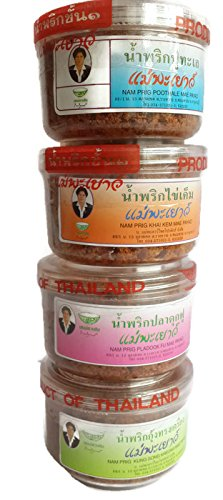 Soy Sauce Baby Costume (4 mix of Authentic Thai Chili Paste Set (Namprik) (2 Oz x 4))