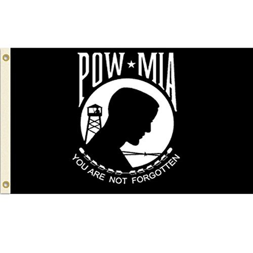 Vista Flags POW-MIA Flag POW MIA Banner Military Veteran Pen