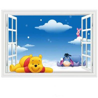 Fangeplus R Diy Removable 3d Cartoon Winnie The Pooh Piglet