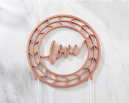 8 Geometric Copper Love Cake Toppers by Kate Aspen (Image #3)