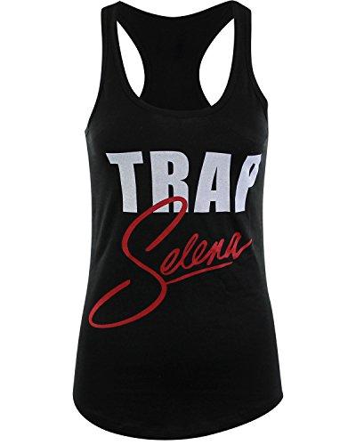 Trap Selena Womens Racer Back Tank Top Shirt Hip Hop Cardi B (Black, L) by ShirtBANC