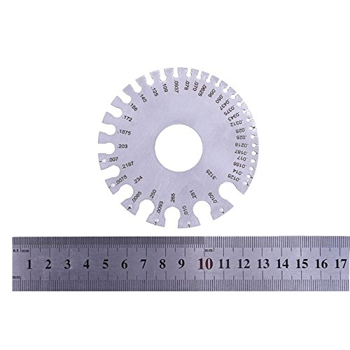 Stainless Steel AWG Wire Thickness Ruler Tool Measure Diameter Gauge 0-36 Gauge for Slices Plates And Wires by Single Mom