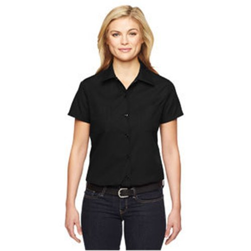Dickies Women's Industrial Short Sleeve Work Shirt, Black, S