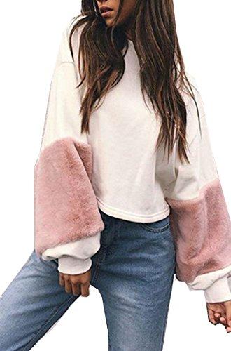Women's Fur Sleeves Sweatshirt