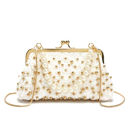 Clutch Purse Smooth Pearl Evening Bag Evening Purse Wedding Party Prom