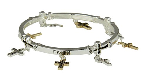 4030385 Faith Stretch Bracelet Cross Charms Encouragement Inspirational Gift