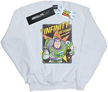 Disney Herren Toy Story 4 Buzz to Infinity Sweatshirt Weiß XXX-Large