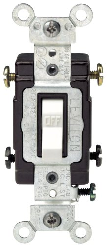 - Leviton CS220-2W 20-Amp, 120/277-Volt, Toggle Double-Pole AC Quiet Switch, Commercial Grade, White