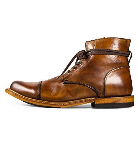 Men's Leather Chukka Lace Up Boots Handcrafted, Hand Stitched With Goodyear Welted Sole - Alder II Honey - Alder Footwear