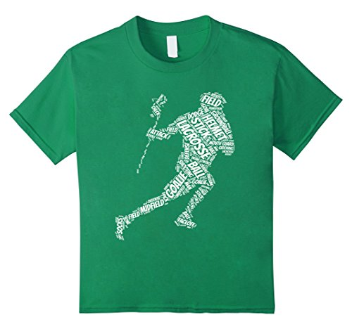 unisex-child Lacrosse Stick ball t-shirt 12 Kelly Green - Lacrosse Youth Tshirt