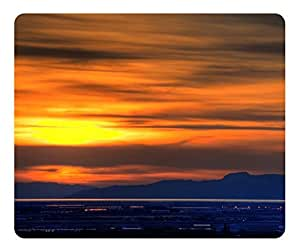 Great Salt Lake Sunset Mouse Pad - Durable Office Accessory Desktop Laptop MousePad and Gifts Gaming mouse pads