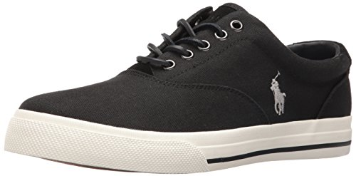 Polo Ralph Lauren Men's Vaughn-SK, Polo Black, 12 D US - Polo Sport Shoes